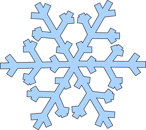Blue snowflake outline clipart clipart transparent stock 28+ Collection of Simple Snowflake Clipart | High quality, free ... clipart transparent stock