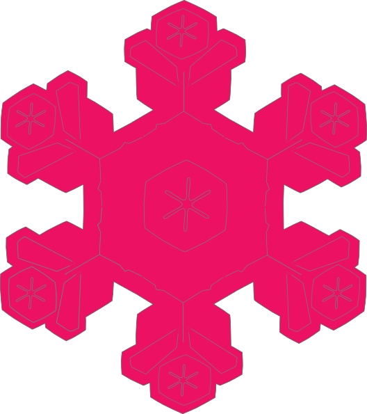 Snowflake colored clipart purple