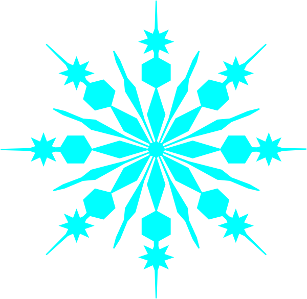 28+ Collection of Teal Snowflake Clipart | High quality, free ... jpg black and white library