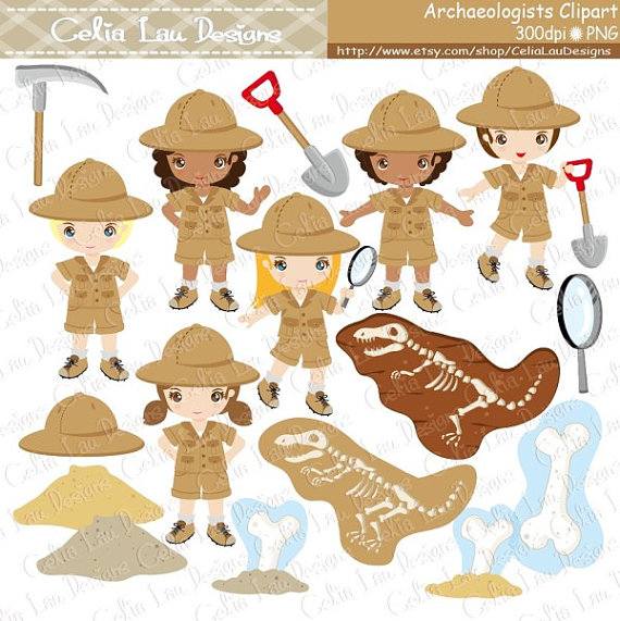 Archeological dig clipart vector royalty free library Archaeologist Kids Clipart , Explorer hat , Dinosaur invitation ... vector royalty free library