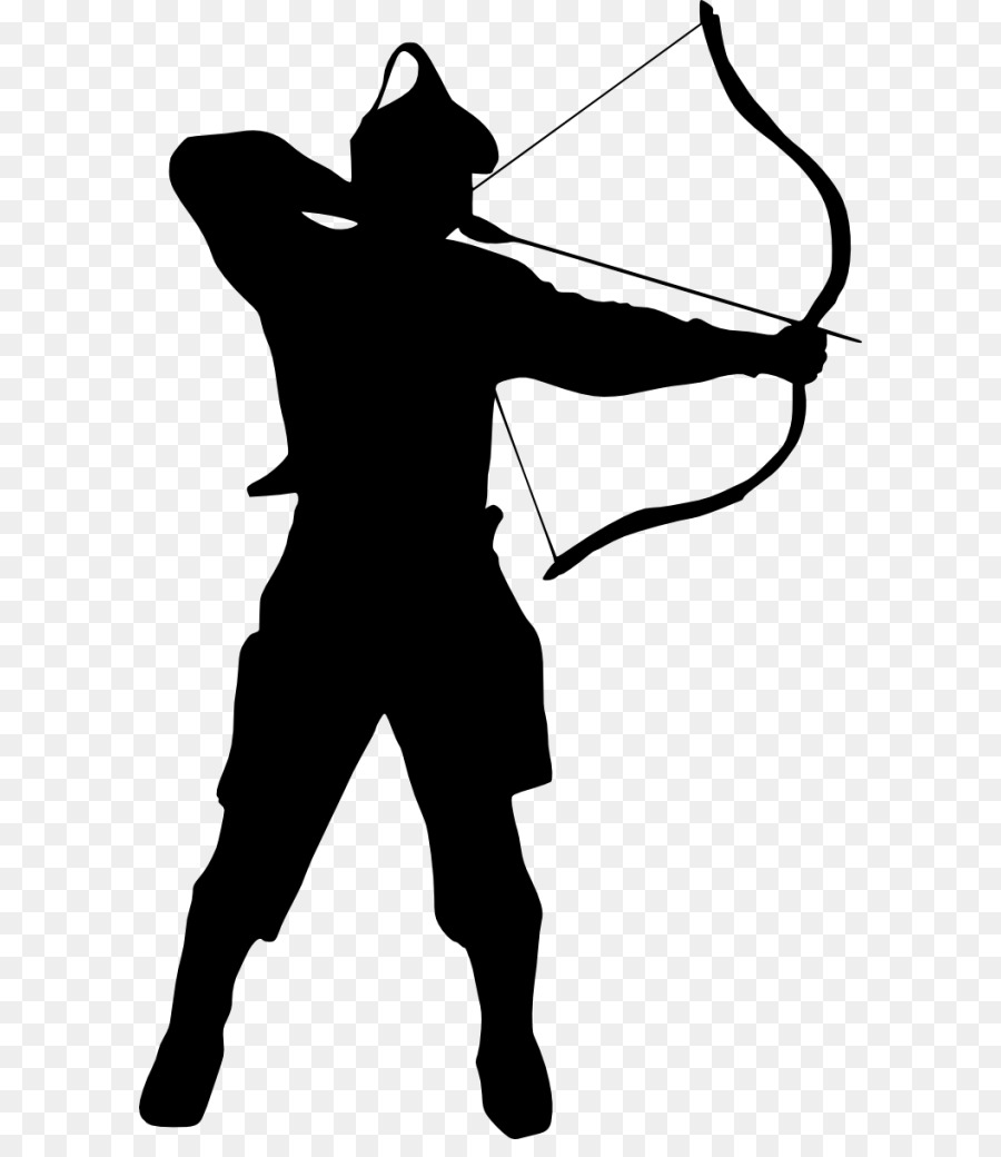 Archery clipart silhouette jpg freeuse stock Bow And Arrow png download - 650*1024 - Free Transparent Silhouette ... jpg freeuse stock