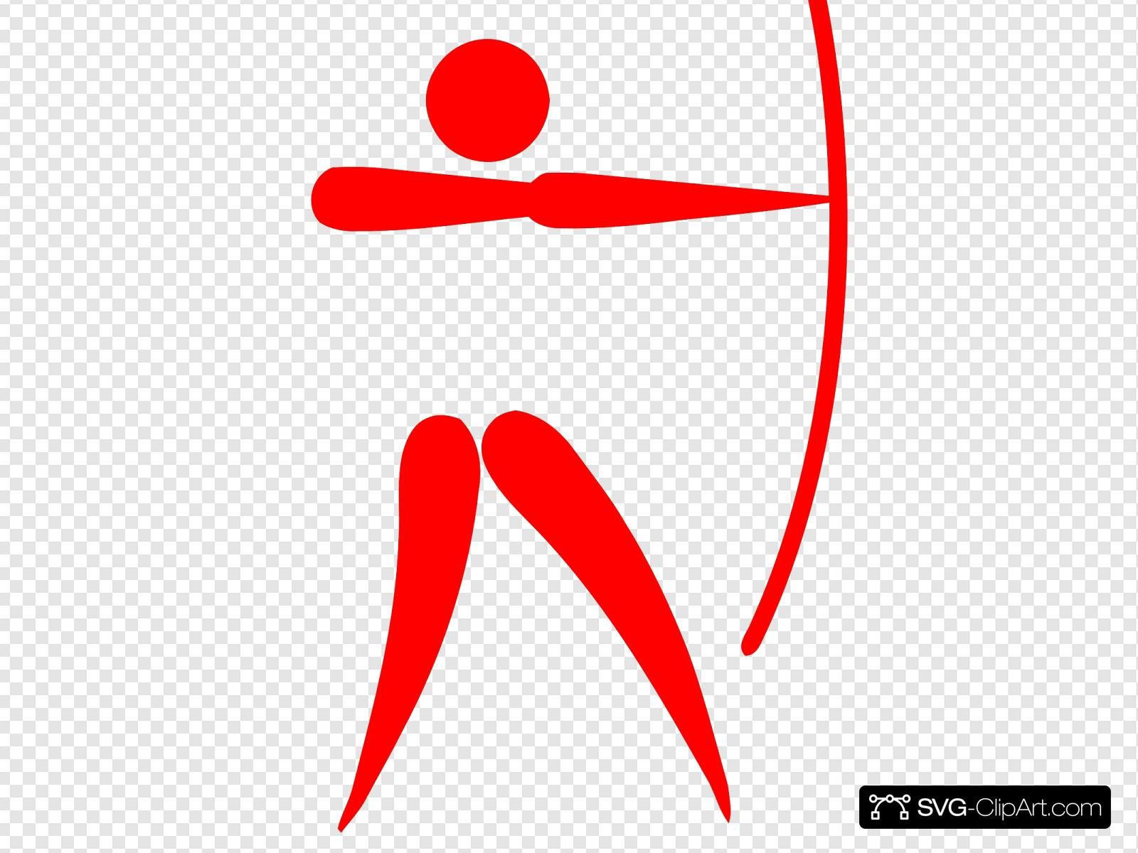 Archer jpg clipart graphic library download Pictogram Archer Red Clip art, Icon and SVG - SVG Clipart graphic library download