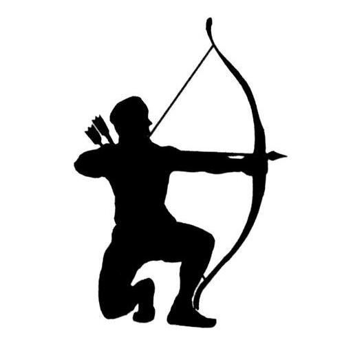 Archer silhouette clipart banner royalty free Bow And Arrow Silhouette Archer silhouette bowhunter um | Art ... banner royalty free