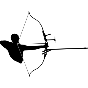 Archer silhouette clipart banner Archer Silhouette clipart, cliparts of Archer Silhouette free ... banner