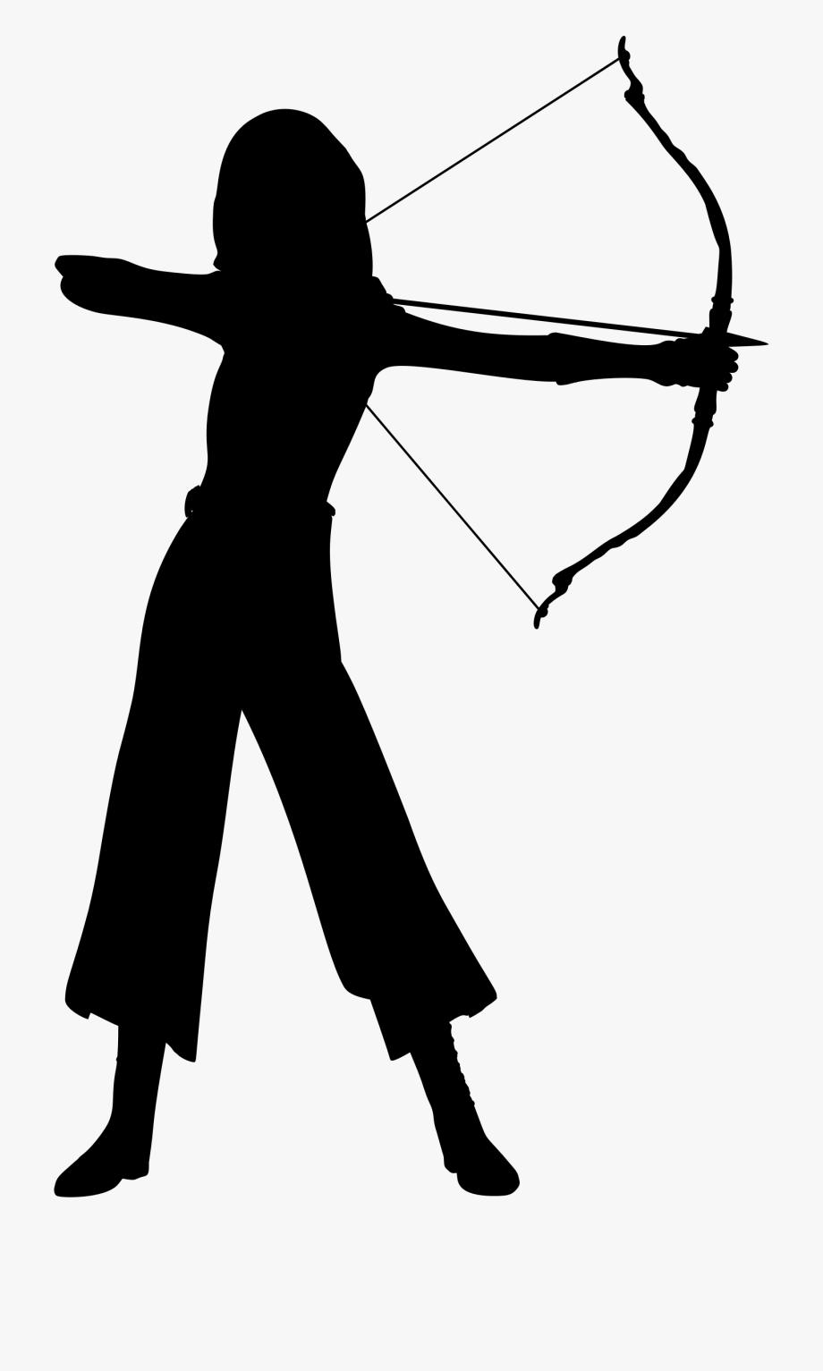 Archer silhouette clipart banner transparent Clipart - Female Archer Silhouette, Cliparts & Cartoons - Jing.fm banner transparent