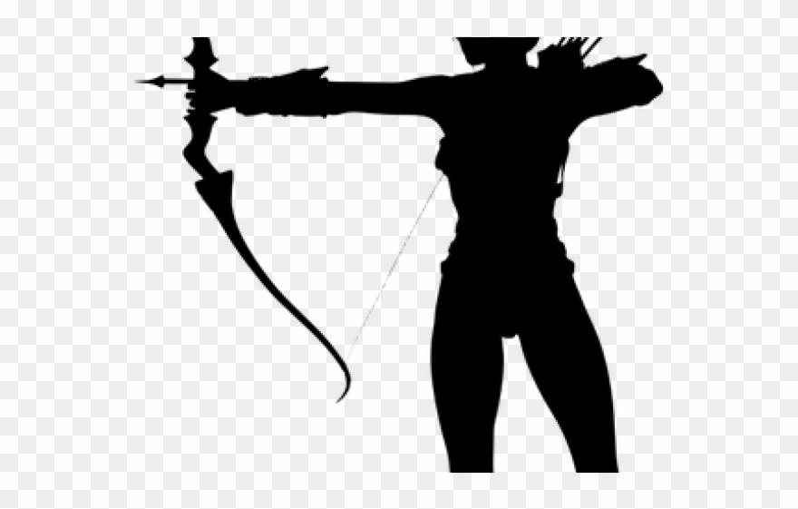 Archer silhouette clipart clip black and white download Archery Clipart Traditional Archery - Woman Archery Silhouette - Png ... clip black and white download