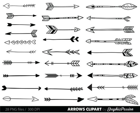 Archery arrow clipart jpg svg transparent Arrows clip art, tribal arrow clipart, archery hand drawn arrows ... svg transparent