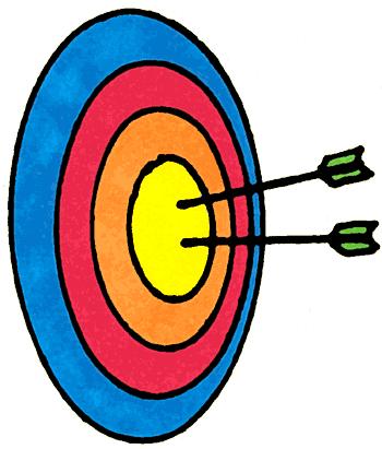 Archery bullseye clipart
