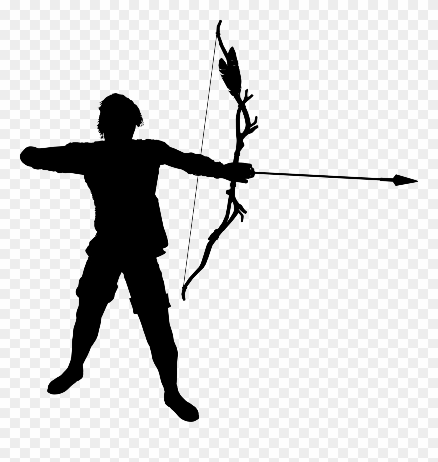 Transparent warrior bow and arrow clipart png royalty free library Image Transparent Archer Clipart Warrior - Silhouette Archery ... png royalty free library