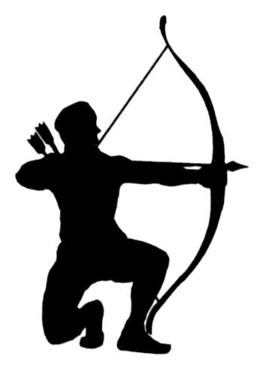 Archery clipart silhouette clip art library Download man with bow and arrow silhouette clipart Archery Bow and ... clip art library