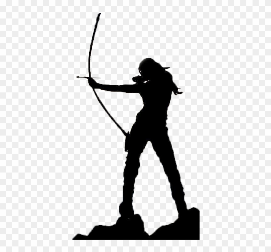 Archery clipart silhouette svg library library And Arrow Archery Shooting Bowhunting Silhouette - Tiro Con Arco ... svg library library
