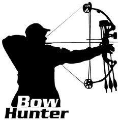 Archery clipart silhouette vector black and white library Free Bow Hunting Silhouette, Download Free Clip Art, Free Clip Art ... vector black and white library