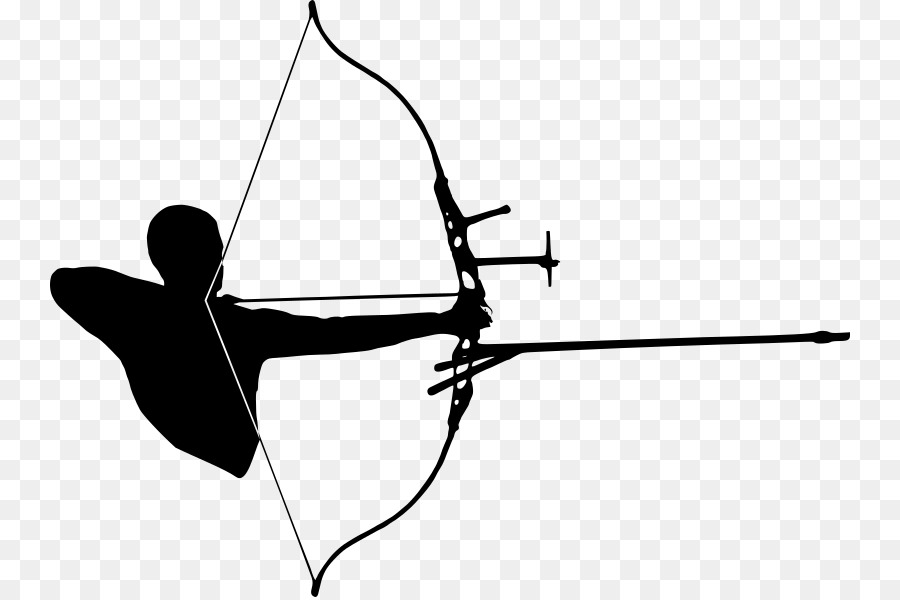 Archery clipart silhouette png royalty free Bow And Arrow clipart - Archery, Hunting, Arrow, transparent clip art png royalty free