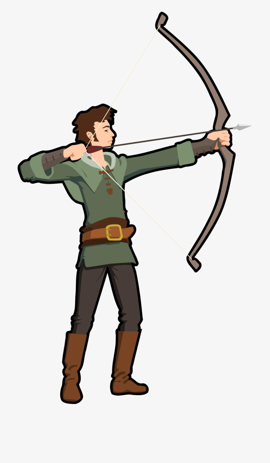 Archery hunting clipart royalty free Png Image - Cartoon Hunter With Bow And Arrow #319144 - Free ... royalty free