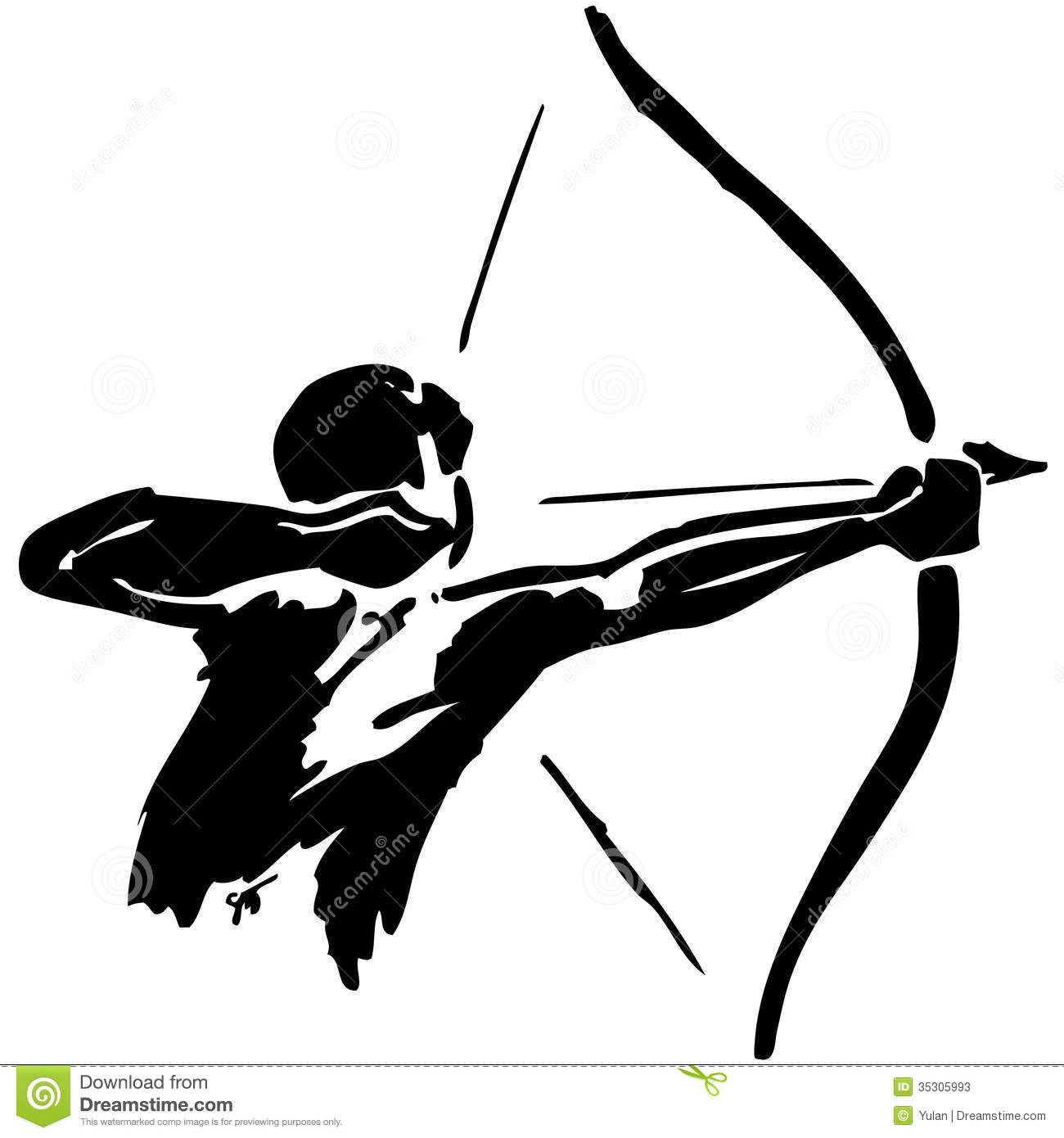 Archery man clipart picture black and white library Archery Stock Illustrations, Vectors, & Clipart – (4,809 Stock ... picture black and white library