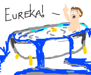 Archimedes eureka clipart clipart royalty free download Archimedes in the bathtub - Drawception clipart royalty free download