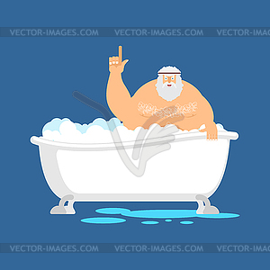 Archimedes eureka clipart clipart royalty free library Archimedes in bath. Thumbs up eureka. ancient - vector image clipart royalty free library