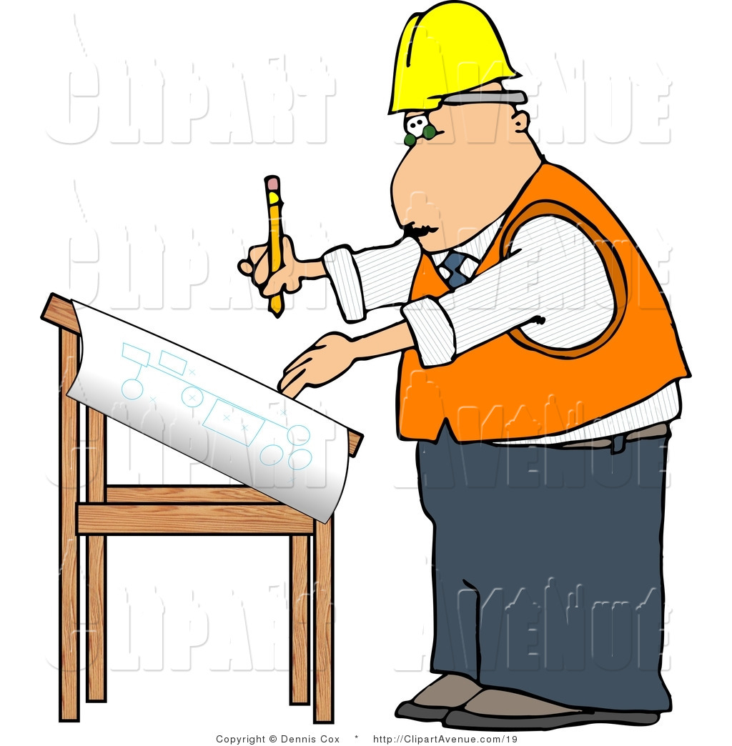 Architect clipart png free download Avenue Clipart of an Architect Drawing Blueprints by djart - #19 png free download