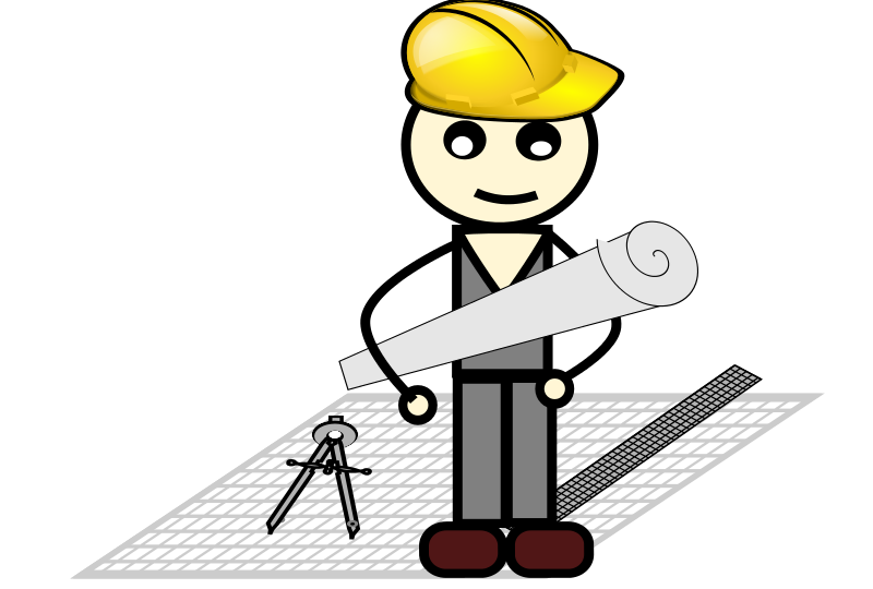 Architect clipart clipart free stock Free Clipart: Architect with compass and ruler | loveandread clipart free stock