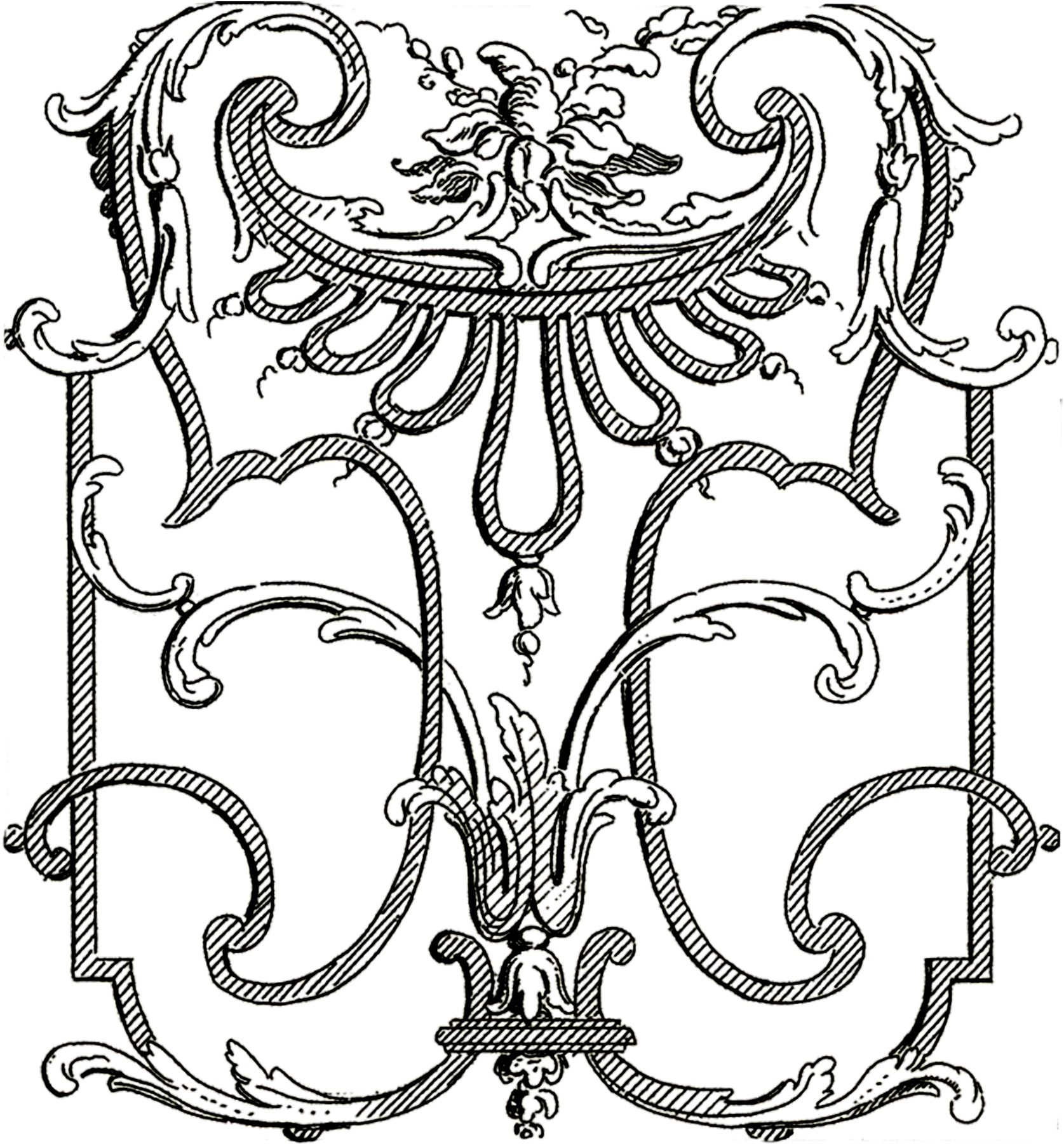 Architectural decorations clipart image library French Architectural Ornaments - Beautiful! | Invitations ... image library