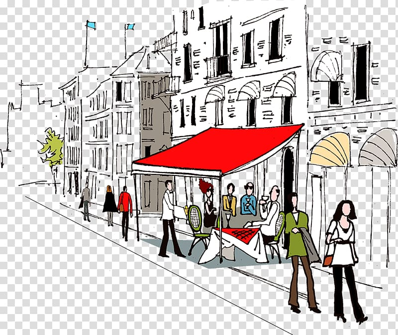 Architecture landscape clipart free stock Street Architecture Landscape Illustration, City streets transparent ... free stock