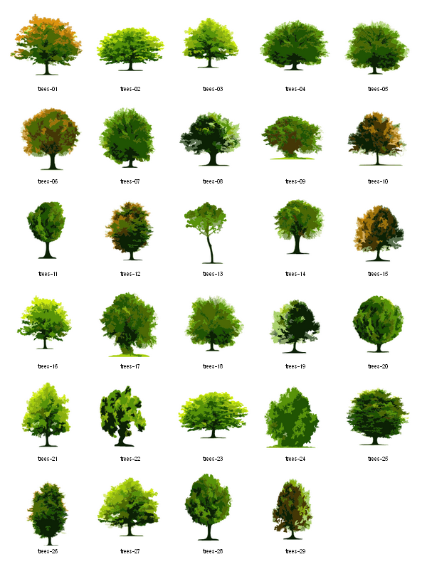 Landscape design clipart picture royalty free library trees-free-vector-clipart | Landscape architecture | Landscape ... picture royalty free library