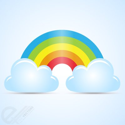 Arcobaleno clipart clip royalty free download Clip art e grafiche vettoriali gratuite di Astratto arcobaleno con ... clip royalty free download