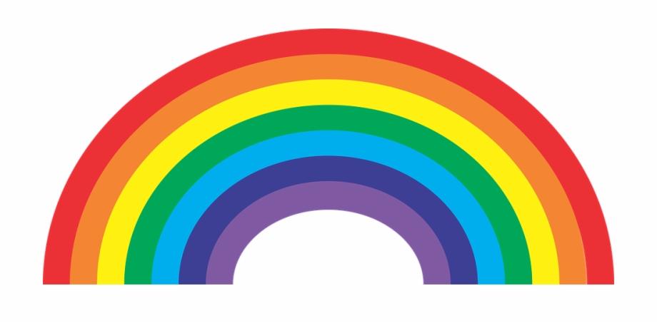 Arcoiris clipart vector library Arcoiris Por Defecto Colores - Clip Art Rainbow Free PNG Images ... vector library