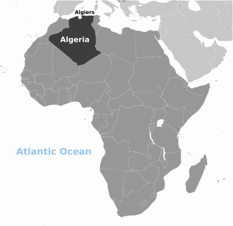 Arctic algeria clipart clip art transparent download Free Clipart: Algeria location labeled | wpclipart clip art transparent download
