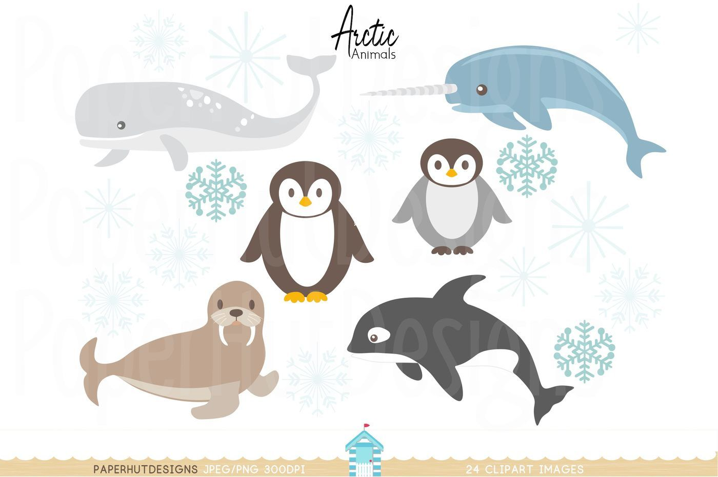 Arctic algeria clipart graphic free download Arctic Animals Clipart By PaperHutDesigns | TheHungryJPEG.com graphic free download