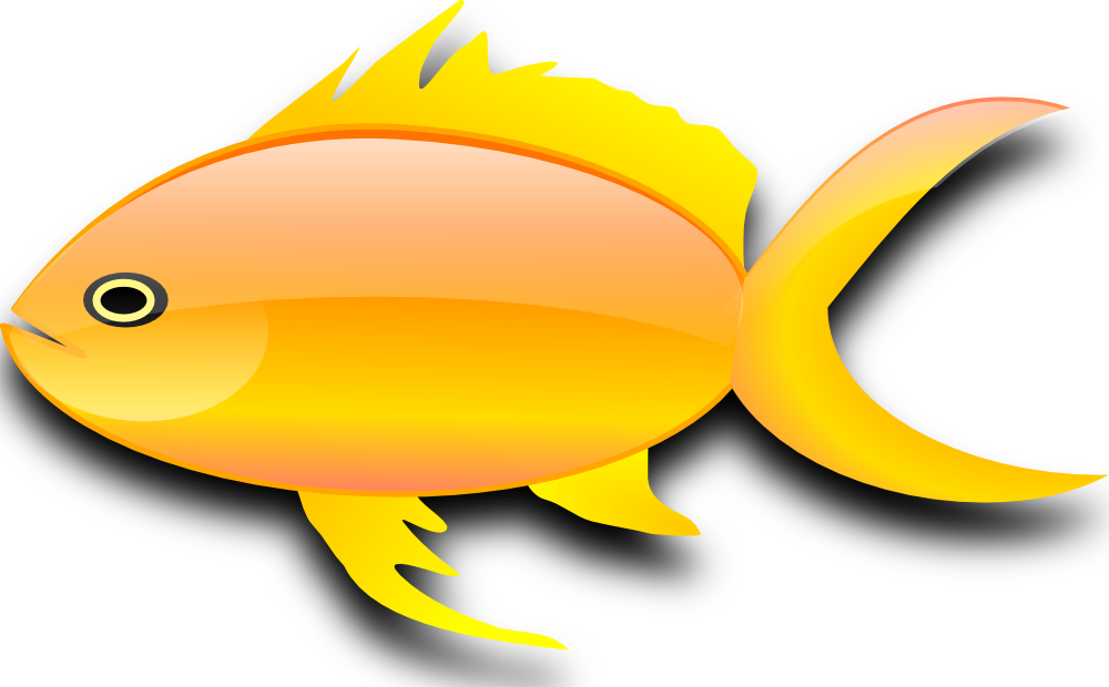 Frozen fish clipart jpg library download OnlineLabels Clip Art - Pez Dorado (Gold Fish) jpg library download