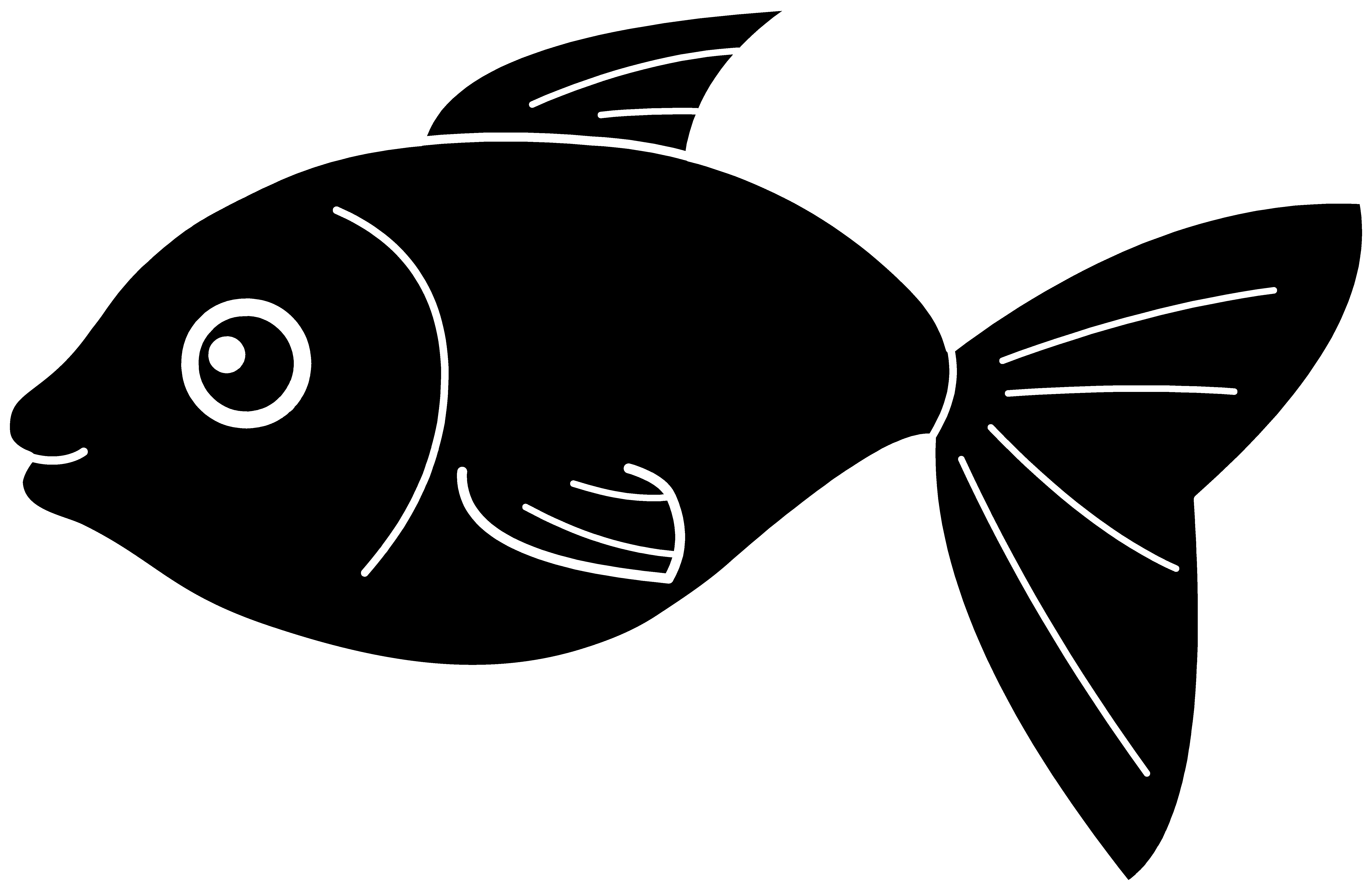 Image of a fish clipart picture library library Fish Clip Art Black and White | Black Fish Silhouette | pattern ... picture library library