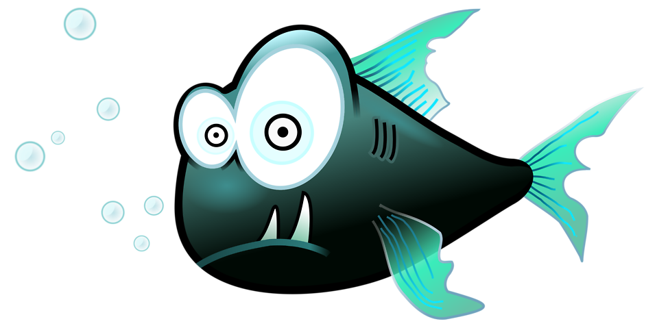 Arctic fish clipart vector free library Piranha | Free Stock Photo | Illustration of a cartoon piranha fish ... vector free library