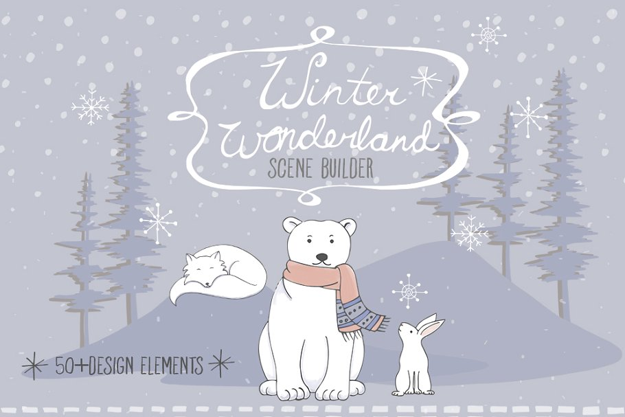 Arctic scene clipart free download Arctic Animal Clipart Set ~ Illustrations ~ Creative Market free download