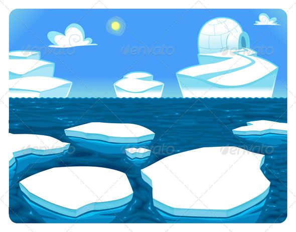 Arctic scene clipart clip transparent stock Polar Scene. | Vector Landscapes in 2019 | Graphic design ... clip transparent stock