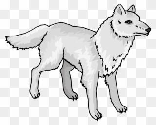 Arctic wolves clipart