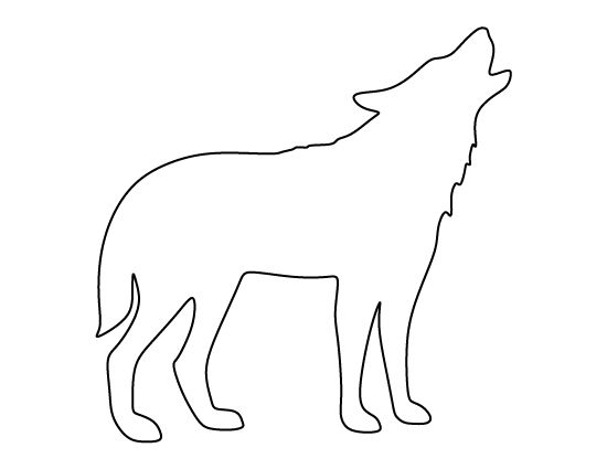 Arctic wolves clipart image free stock wolf outline Arctic wolf clipart outline howling pencil and inlor ... image free stock