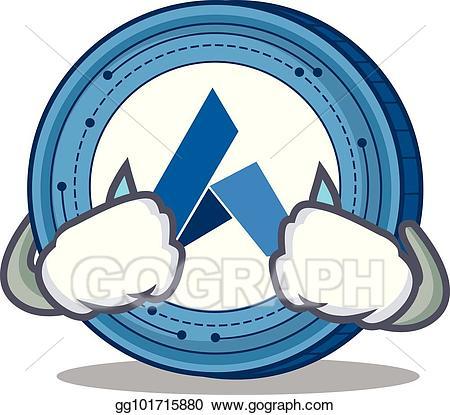 Ardor clipart clip transparent Vector Stock - Crying ardor coin mascot cartoon. Clipart ... clip transparent