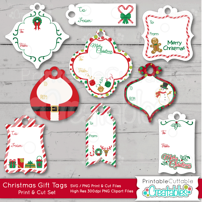 Are clipart files good for printing clip royalty free download Christmas Gift Tags Print & Cut SVG Files clip royalty free download