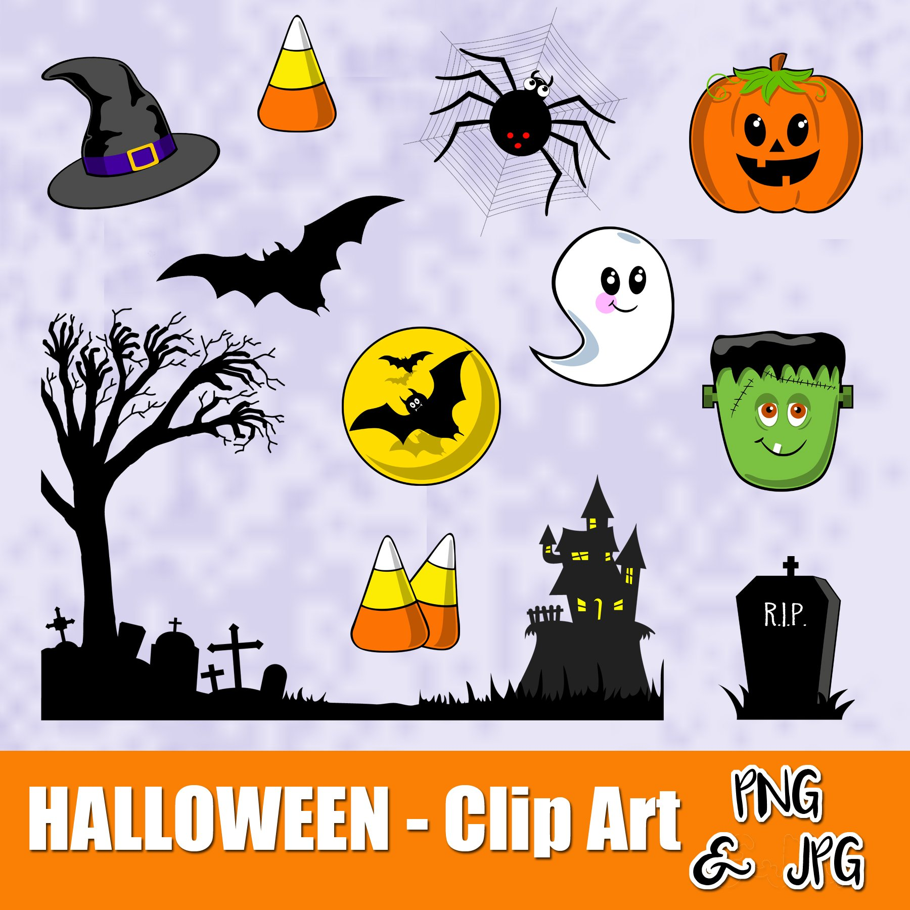 Are jpegs or cliparts smaller transparent HALLOWEEN FUN - CLIP ART- Halloween characters - PNG and JPG files ... transparent