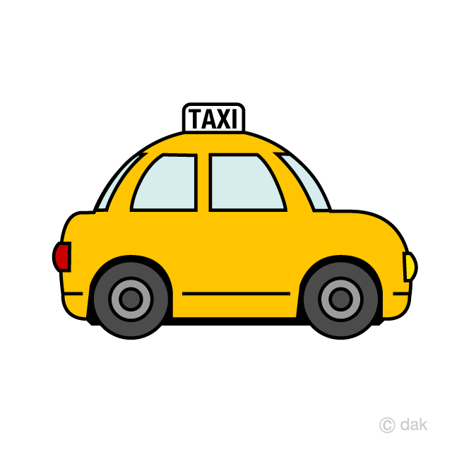 Areal taxi clipart transparent clip transparent library Cute Taxi Clipart Free Picture|Illustoon clip transparent library