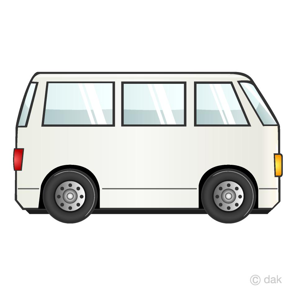 Minibus clipart free clipart black and white Van Clipart Free Picture|Illustoon clipart black and white