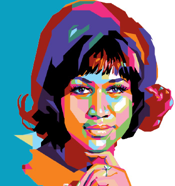 Aretha franklin clipart freeuse stock Aretha-Franklin - Finsbury Green freeuse stock