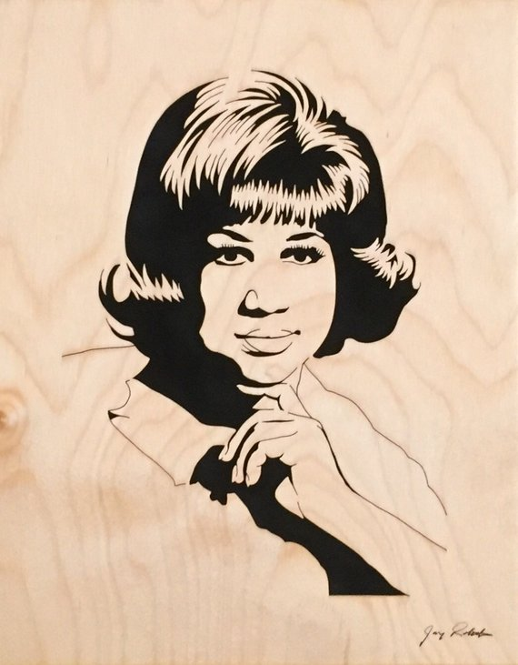 Aretha franklin clipart jpg free library Aretha Franklin Portrait, \