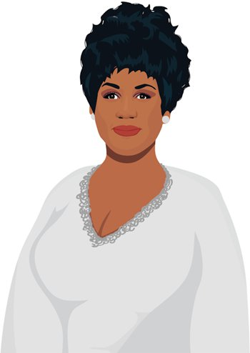 Aretha franklin clipart clipart royalty free download Honoring Aretha Franklin, legendary \
