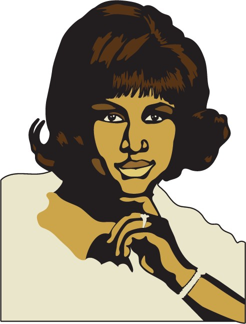 Aretha franklin clipart clipart royalty free download Wall Sticker Aretha Franklin clipart royalty free download