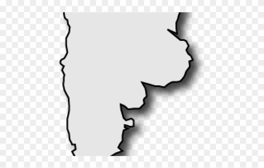 Argentina map clipart clipart black and white download Montana Clipart Outline - Argentina Map Outline - Png Download ... clipart black and white download