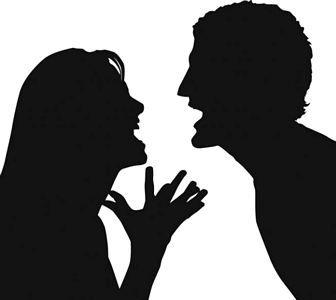Arguing couple clipart