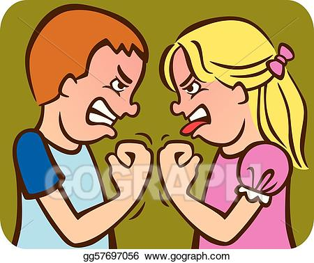Arguing sibling clipart banner free Vector Illustration - Sibling rivalry. EPS Clipart gg57697056 - GoGraph banner free