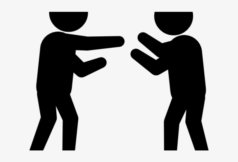 Argument people vs people clipart graphic freeuse library Two People Fighting - Clipart Black And White Argument PNG Image ... graphic freeuse library